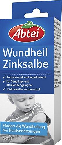 Abtei 4983442 Wundheil Zinksalbe, 75 ml