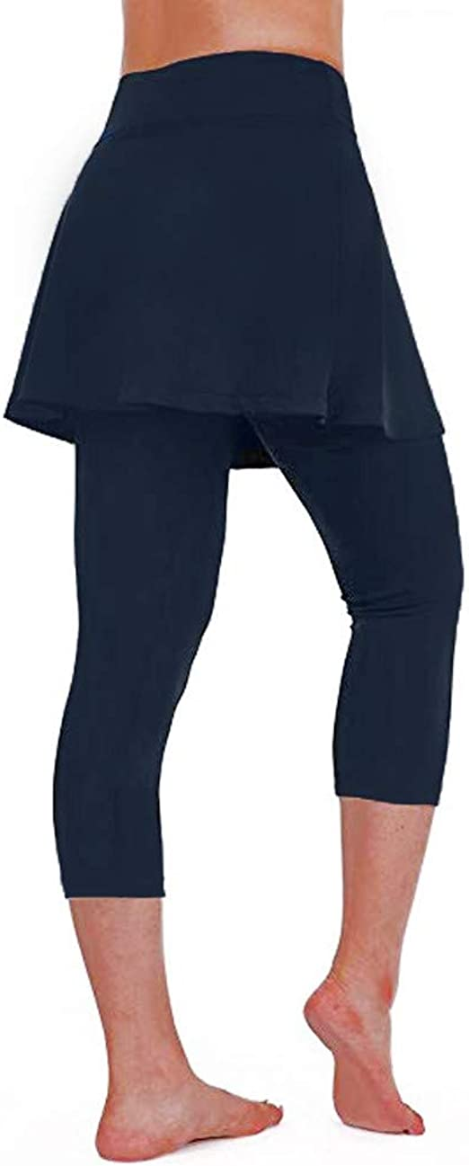 RISTHY Leggins para Damas Vestidos Falda Deportivos Pantalones 3/4 ...