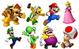 SUPER MARIO BROS 8 CHARACTERS SET Decal WALL STICKER Home Decor Art