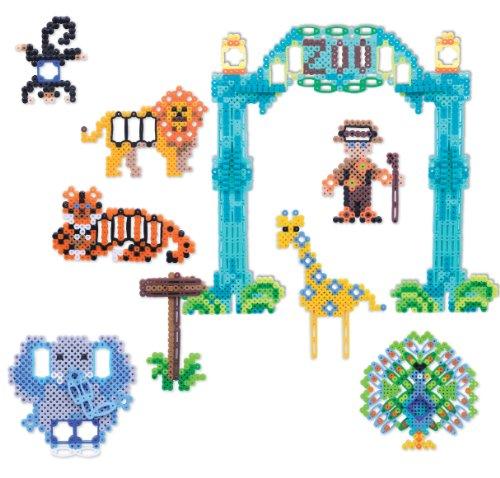Perler Shapes Fun Fusion Fuse Bead Activity Kit-Day At The Zoo (Fun Shapes Fuse Bead Kit)