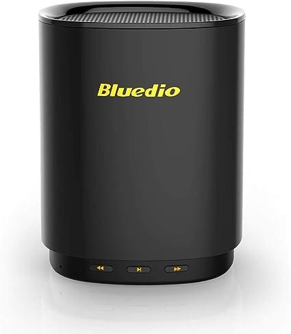 TS-5 Altavoces Bluetooth inalámbricos portátiles de Sonido 3D, Controla de Voz, Mini portátil Altavoz para Viaje Familiar, con micrófono para teléfonos y música (Negro): Amazon.es: Electrónica