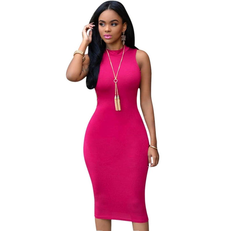 Kwok Dress, Women's Sleeveless Hollow Party Package Hip Skirt Dress