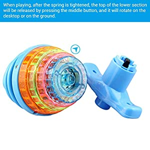 BSTCAR Led Flashing Toy, Rotating Spinning Toy with Led Light And Music, Light Up Spinning Toy For Kids, Dazzling Gyro…