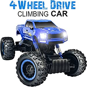 DOUBLE E RC Rock Crawler 4WD Dual Motors Rechargeable Remote Control Truck Off Road RC Car