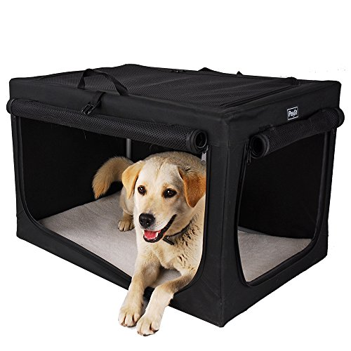 Medium Soft Crate (Petsfit 30x20x19 Inches Travel Pet Home Indoor/Outdoor For Medium Dog Steel Frame Home,Collapsible Soft Dog)