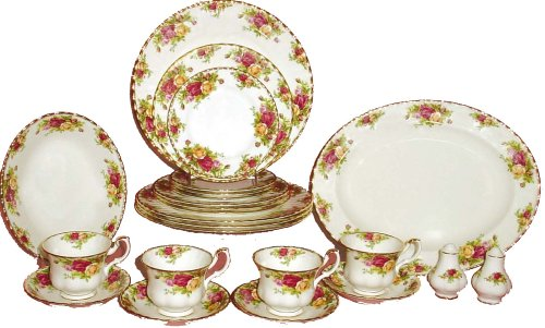 Royal Albert Old Country Rose 24-Dinnerware Piece Set, Service for ()