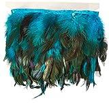 Expo Jaylo Feather Fringe Trim 5-1/2'' Wide 5 Yards-Turquoise