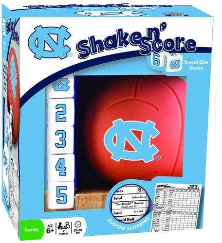 (MasterPieces NCAA North Carolina Tar Heels Shake 'N Score Travel Dice Game)