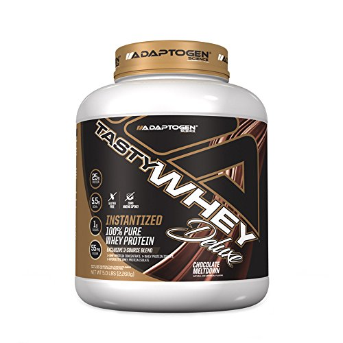 Tasty Whey Deluxe 5lbs- Adaptogen Science - Chocolate Meltdown