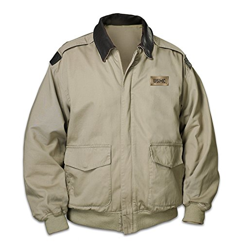 Marines Forever Men's Twill Jacket: XL by The Bradford Exchange