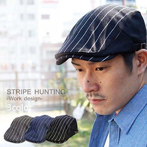 ハンチング ウール ストライプ デザインハンチング キャップ 帽子