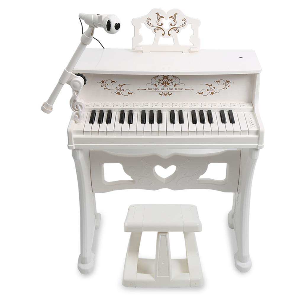 KINGLING-piano Piano Keyboard with Microphone Education (Gift Box Packaging) (Color : White)