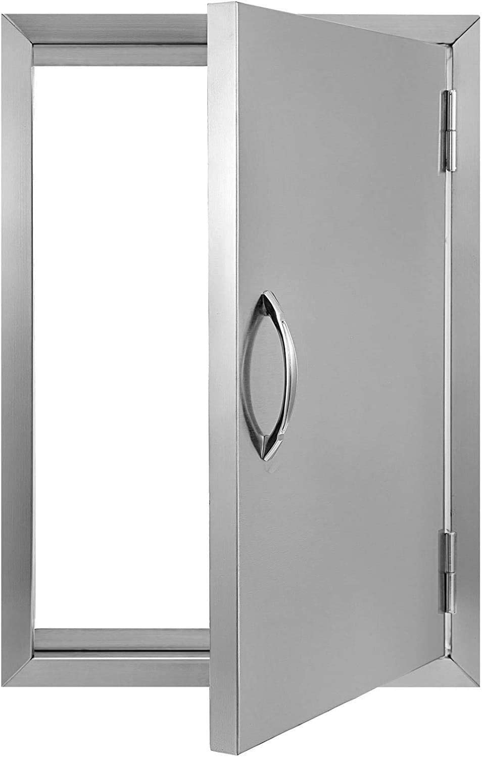 BBQ Access Door 17W x 24H BBQ Island Door Brushed Stainless Steel Perfect for Outdoor Kitchen or BBQ Island (17W x 24H)
