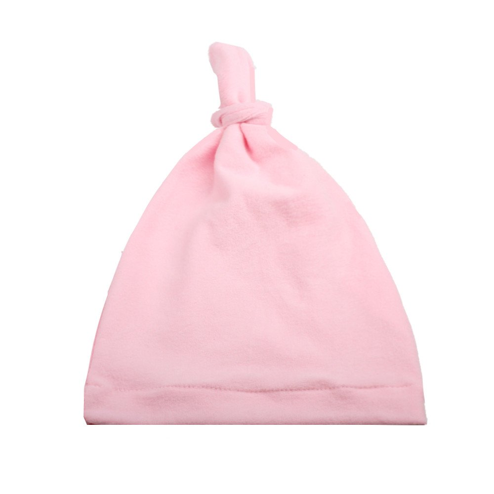5 Different Colors Baby Protection Knotted Solid Color Soft Velour Single Knot Hat Baby Cap