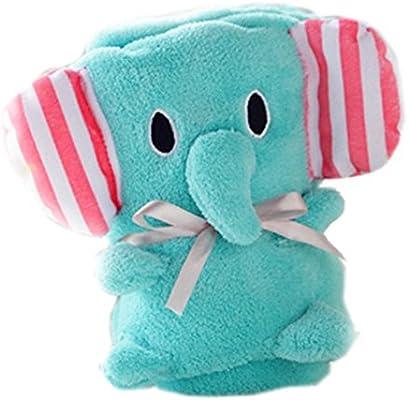 Manta suave estupenda para el bebé lindo del elefante fina manta ...