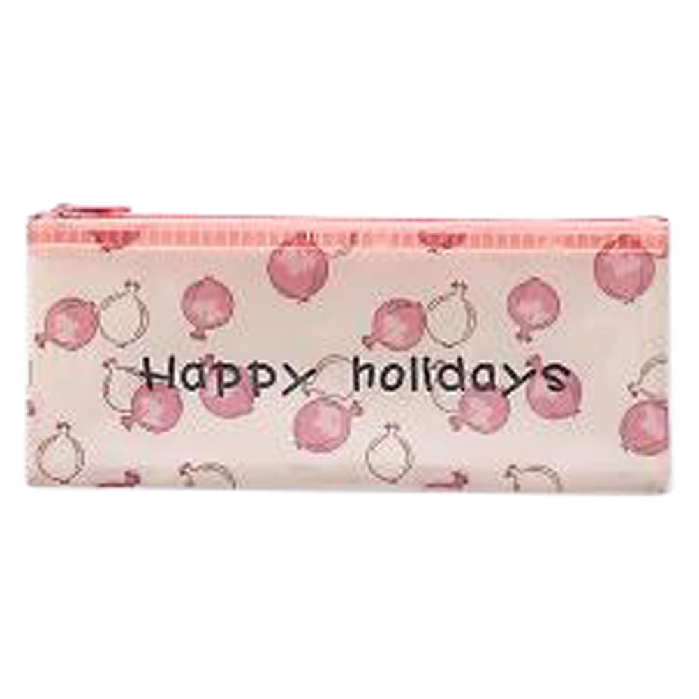 3PCS Cute File Bag Stationery Bag Pouch File Envelope for Office/School Supplies, Pomegranate B6