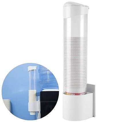 Outgeek Water Cup Dispenser Dustproof Mount Water Cup Holder Cup Dispenser Holder