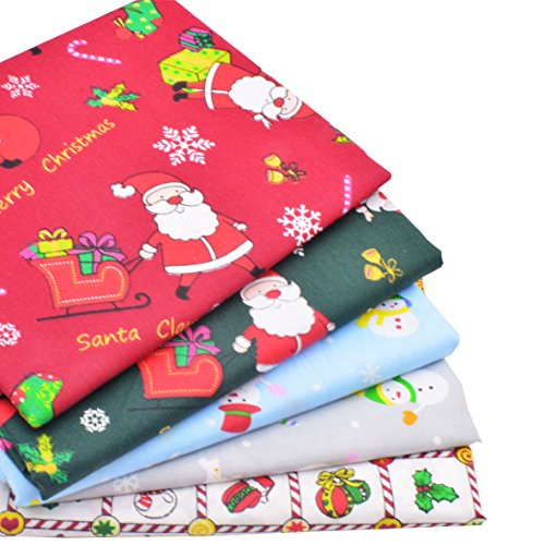 iNee Fabric Christmas Fat Quarters Fabric Bundles, Quilting Fabric for Sewing Crafting,18