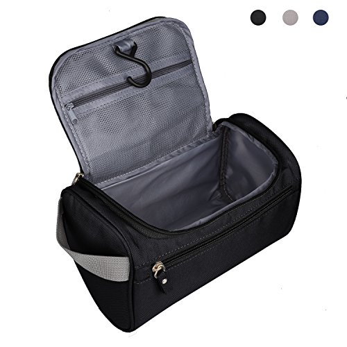 Heavy Duty Waterproof Toiletry Bag - Travel Cosmetic Makeup Bag for Women & Shaving Kit Organizer Bag for (Heavy Duty Travel Case)