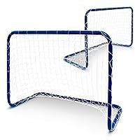 2 Stück Mini Fußballtore Fussball Tor Metall inkl. Netz 78 x 56 x 45 cm