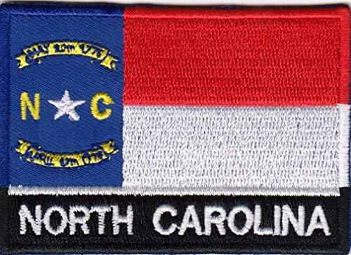USA State United States Iron on Flag Patch Heat Seal Multicolor Applique (North Carolina NC)
