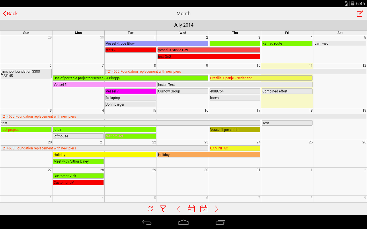 amazon com schedule it staff planner appstore for android