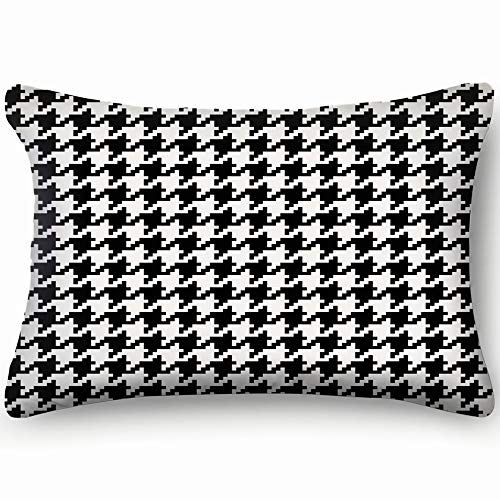 - best bags Houndstooth Black White Hound Home Decor Wedding Gift Engagement Present Housewarming Gift Cushion Cover 20X30 Inch
