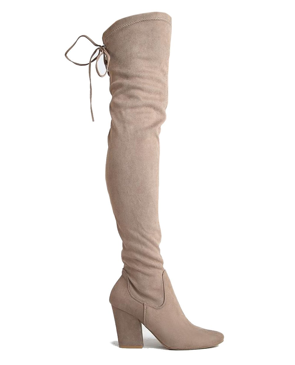 J. Adams Thigh High Block Heel Boot – Pointed Toe Stretchy Over The Knee – Telly