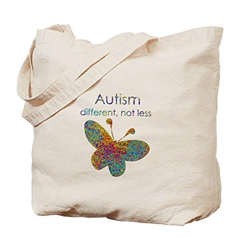 CafePress–Autismo: diverse, non meno–Borsa di tela naturale, panno borsa per la spesa