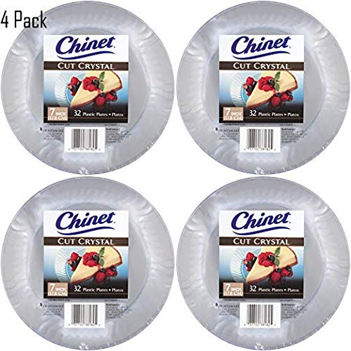 Chinet Cut Crystal Clear Plastic 7 inch Plates (128)