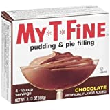 My*T*Fine: Pudding & Pie Filling Chocolate, 3.13 Oz (Pack of 4)