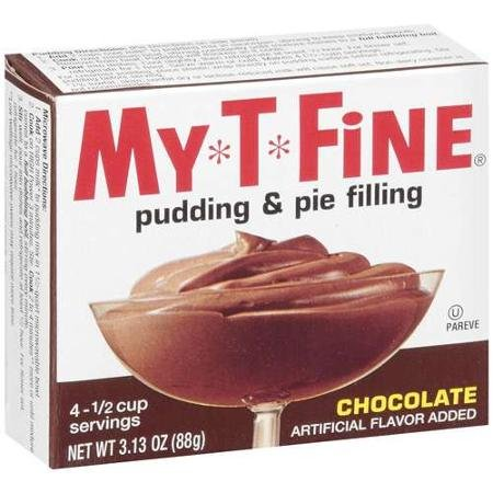 (My*T*Fine: Pudding & Pie Filling Chocolate, 3.13 Oz (Pack of 4))