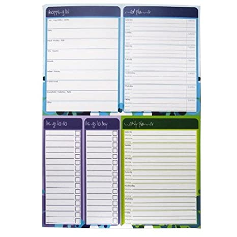 amazon com a4 multi planner notepad grocery list meal diet