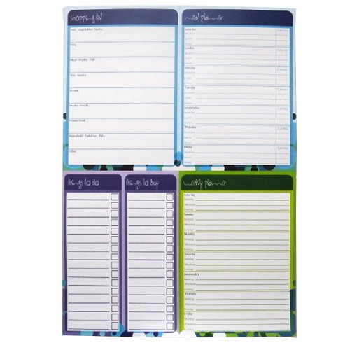 """A4 Multi Planner Notepad – """"Grocery List / Meal & Diet Planner / Weekly Planner / Things to Do & Buy"""" - 100 Sheets Per Pad - Size 11.5 X 8.3 ()"""