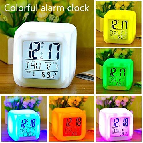 St@llion Reloj Despertador LED de 7 Colores, Despertador ...