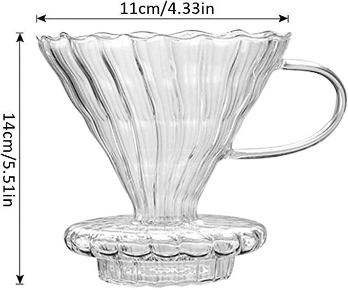 Cafetera Dripper Safe única en espiral, diseño Brewer, fácil de usar, filtro de café con cono vertedor para cafetería: Amazon.es: Amazon.es