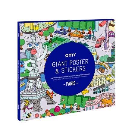 Amazon Com Omy Paris Giant Poster Stickers Toys Games