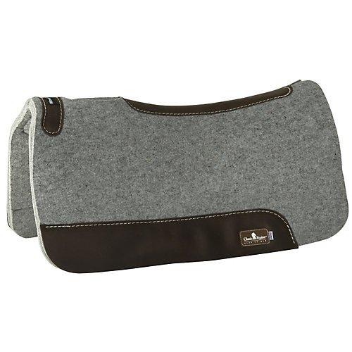Classic Equine Grey Wool Felt Saddle Pad>