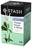 Stash Tea Fusion Green & White Tea 18 Count Tea Bags in Foil (Pack of 6) (Packaging May Vary) Individual Tea Bags for Use in Teapots Mugs or Cups, White Tea and Green Tea, Brew Hot or Iced
