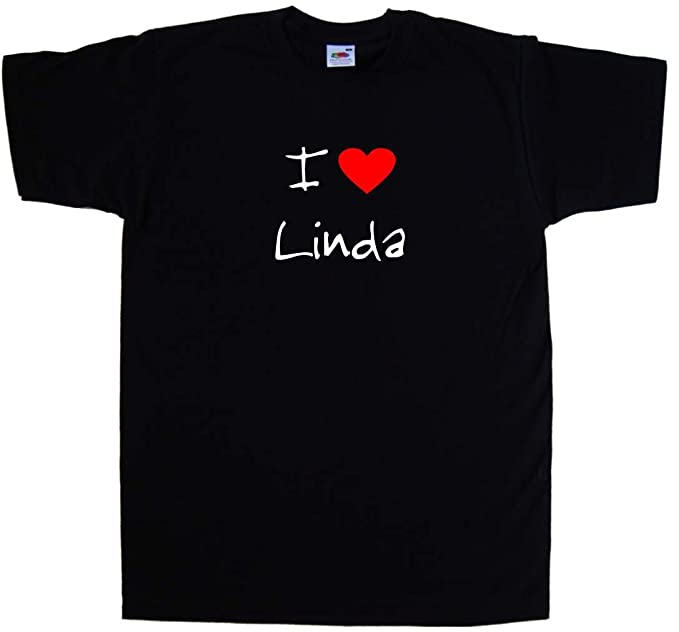 I Love Heart Linda T-Shirt