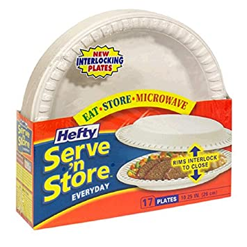 Hefty Serve u0027N Store 10 1/4u0026quot; Everyday Interlocking Plates Case Pack  sc 1 st  Amazon.com & Amazon.com: Hefty Serve u0027N Store 10 1/4