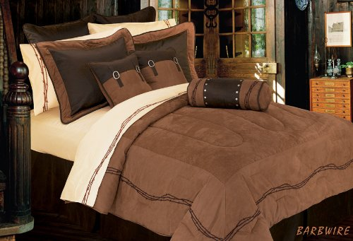 HiEnd Accents Barbwire Western Bedding, King