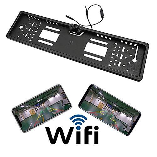 JAYE WiFi Wireless Placa Marco Cámara Coche Oculto Copia De Seguridad Inversión Trasera Cámara De Visión para Android...