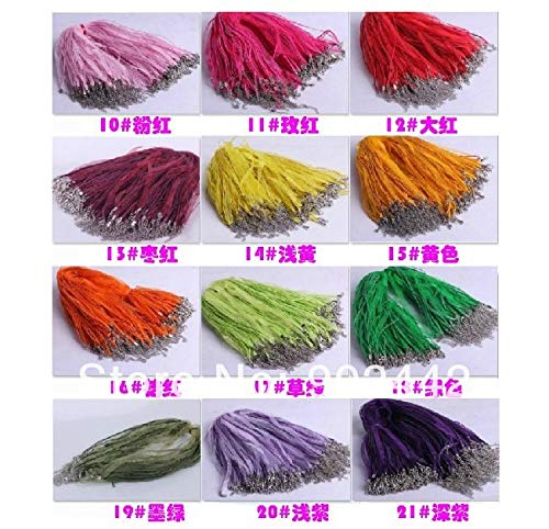 FINCOS Hot Sale & :Wholesale Silk Necklace Cord for Handmade Necklace Jewelry,1000 pcs/lot, 21 Colors for Choice by FINCOS (Image #1)