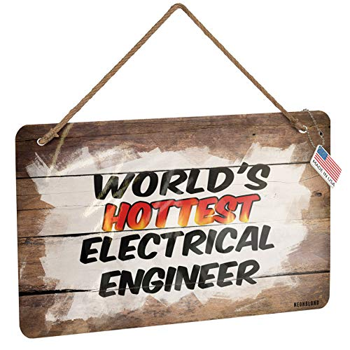NEONBLOND Metal Sign Worlds Hottest Electrical Engineer Christmas Wood Print