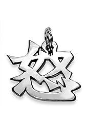 "Sterling Silver Japanese/Chinese ""Anger"" Kanji Symbol Charm"