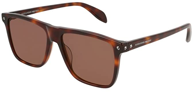74139a387f Image Unavailable. Image not available for. Color  Alexander McQueen  AM0129S Sunglasses ...