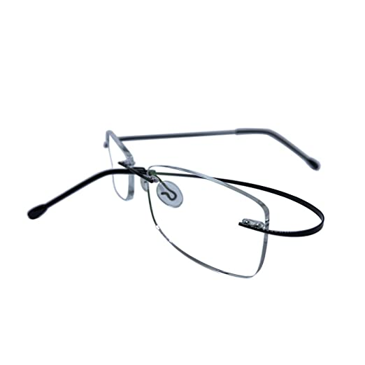 71c75720f1364 Amazon.com  Fulision Rimless Reading Glasses Metal Frame Eyewear Frameless  Reading Glasses  Clothing