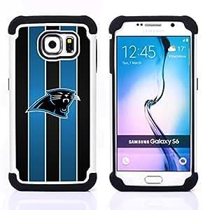 - Carolina Panther Football American/ H??brido 3in1 Deluxe Impreso duro Soft Alto Impacto caja de la armadura Defender - SHIMIN CAO - For Samsung Galaxy S6 G9200
