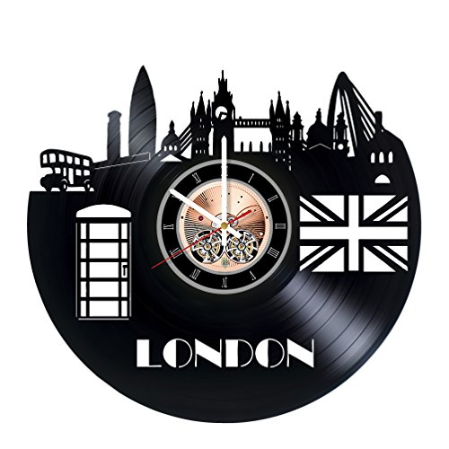 London England Vinyl Record Wall Clock - Home Room wall decor - Gift ideas for friends, boys and girls – City Unique Art -